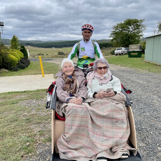 happy and bright cycling without age trike